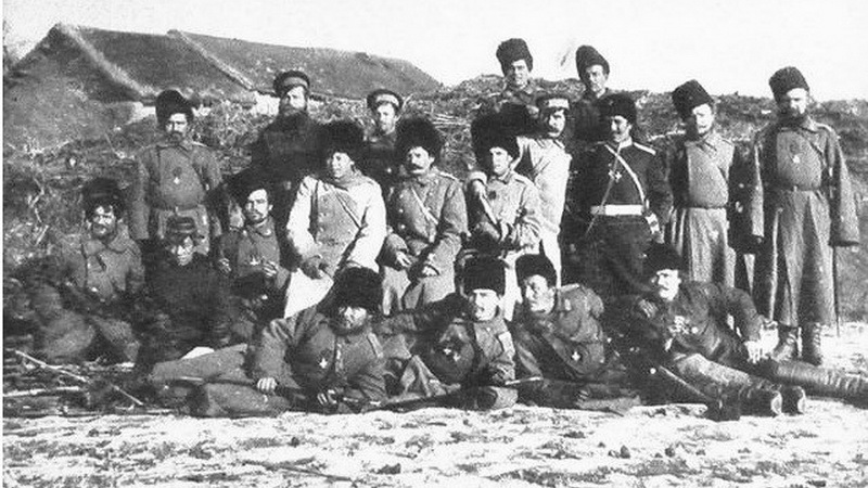 Фото 1: Оренбургские казаки. 10-й Оренбургский казачий полк. В период Русско-японской войны 1904-1905 гг.